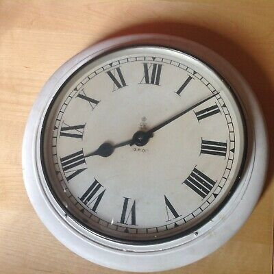 Vintage Antique Wall Hanging Clock GPO GvR Gillet And Johnson No4
