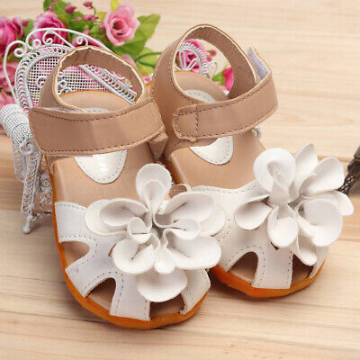 White Princess Skidproof Summer Cool Flowers Sandal Shoes Baby Girl Kid New 23cm