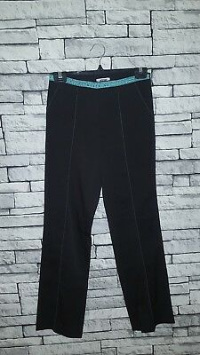 Age 15-16 Year Old Girl BNWT Moschino (40) Black Tape Waistband Trousers RRP £54