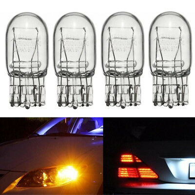 4X T20 W21 Halogen Bulb 5W TAIL Fog Turn Signal Yellow Light Dual Filament 12V