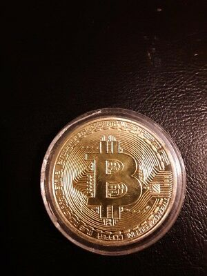 Gold Bitcoin Commemorative Collectors Coin Bit Coin is Gold Plated Coins 001
