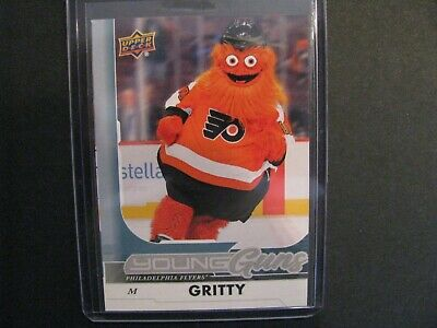 2018 Philadelphia Flyers Mascot Gritty Young Guns Nhl Rookie Card Regular Size