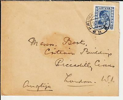 """Lithuania - 1938 Cover From """"british Legation"""" Kaunas - Scarce"""