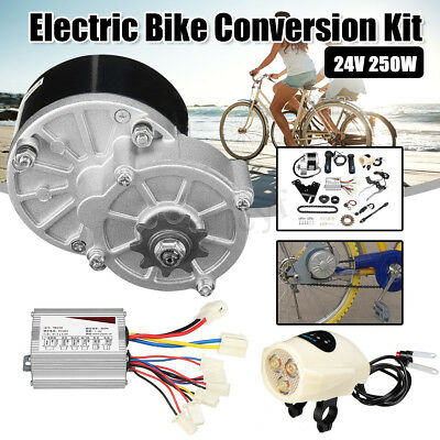 24/36V 250W Electric Bicyle Conversion Motor Controller Kit For 22-28'' Bike AU