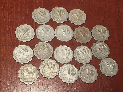 1960-1963 Lot Of 18 Coins 1 Agora Israel Rare Vintage Old Coins