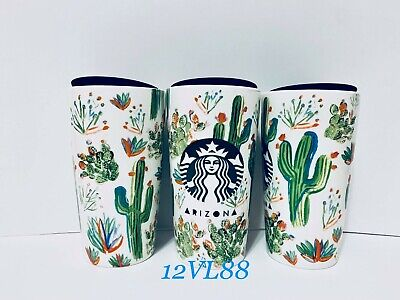 BRAND NEW & UNUSED - Starbucks - Arizona - Cactus - Ceramic Travel Tumbler Mug