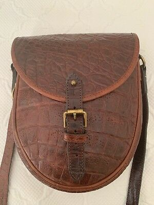 Genuine Mulberry Vintage Brown Congo Print Leather Saddle Shoulder  Messenger Bag 41e18b335300d
