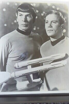 Set of three Star Trek black and white photos from early original cast