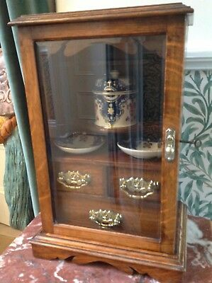 Early 20Thc Smoker's Cabinet With Original Ceramics And Key         (752)