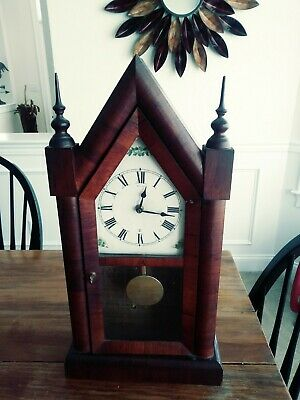 Beautiful antique new haven steeple mantel clock