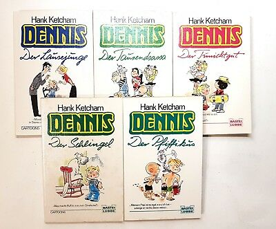 Hank Ketcham - Dennis - 5 Cartoons - Lausejunge uvm.