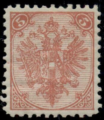 BOSNIA & HERZEGOVINA #6a, 5h rose red, type II, og, hinged, VF, Scott $125.00