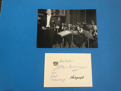Annunzio Paolo Mantovani (Italian Conductor, Composer) Signed Card Dated 1977