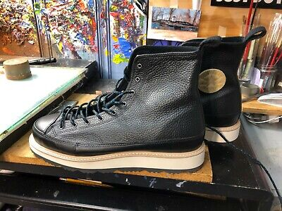 cb85a1af290b Converse CT Crafted Boot HI Black Leather SizeUS 12 Men 162355C Chuck  Taylor New