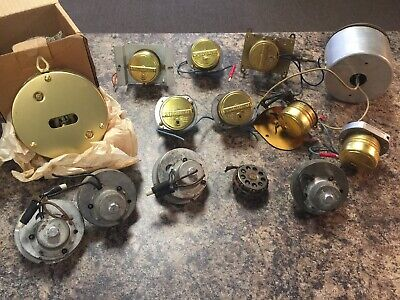 Lot of Vintage Electric Clock Motors NOS and Used Ingraham Synchron More!