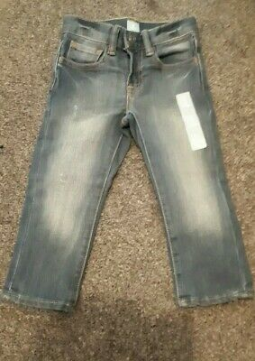Baby Gap boys Size 2 Years Blue Jeans With Faded Distress Look,  Brand New With