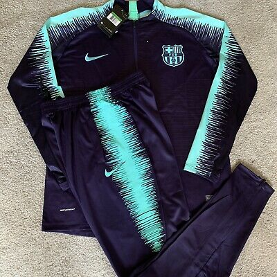 ae4345056 Mens NEW Nike FC Barcelona Jersey Tracksuit Training Jacket Sweats  Vaporknit XL