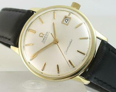 rare vintage gents gold Omega automatic Seamaster watch + box