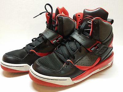 19885158b7f896 6.5Y Nike Air Jordan Flight Boy s Sneakers Black Red Fashion Basketball  Shoes