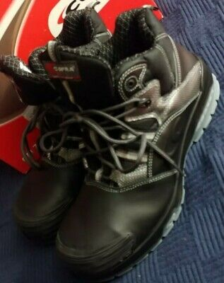 Cofra Safety boots Modigliani , Size. 9 Black metal free bnwt small sized