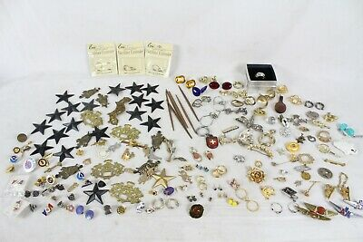 Huge Vintage Costume Jewelry Lot Collection Necklace Earrings Pin Brooch Stones