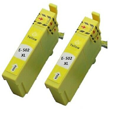 2x Gelb Tinte für Epson WorkForce WF-2860 WF-2865 DWF XP-5100 XP-5105 XP-5115