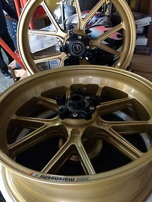 MARCHESINI wheels (Set) Forged MAGNESIUM (GOLD) - SUZUKI GSX-R 1000 2005-08