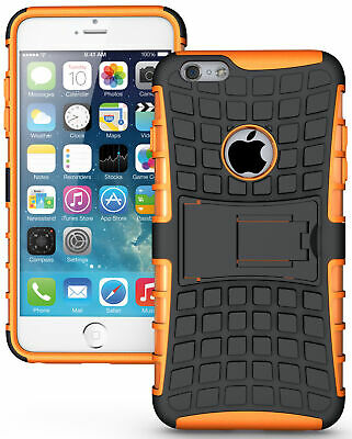 """NEON ORANGE GRENADE GRIP TPU SKIN HARD CASE COVER STAND FOR iPHONE 6 PLUS 5.5"""""""