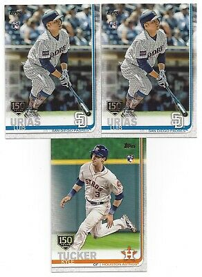 Lot of (163) 2019 Topps Series 1 150th stamp Parallel (Tucker, Urias) See List!