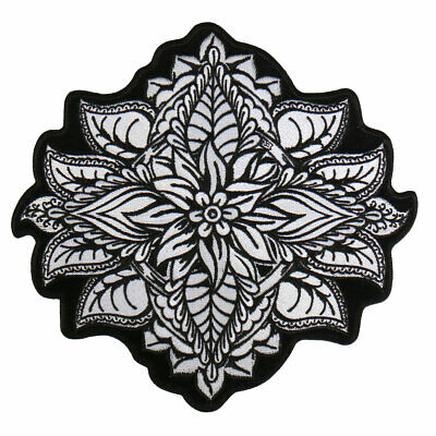 "HENNA FLOWER Patch  8"" by 8"" Iron-on / Sewn-on"