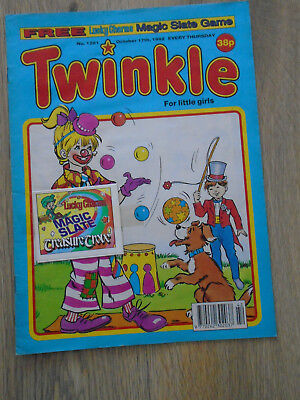 Twinkle Comic # 1291 Oct 17th 1992 + free gift, Lucky Charms Magic Slate Game