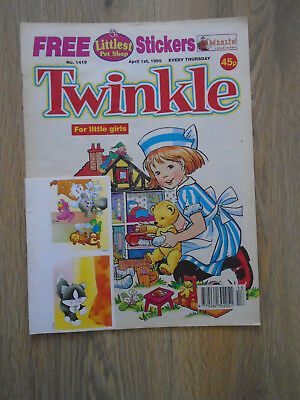 Twinkle Comic # 1419, April 1st 1995 with Free Gift, Littlest Pet Shop Stickers
