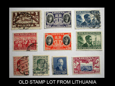 Lithuania Old Stamp Lot With Scott Numbers. Lot - 1