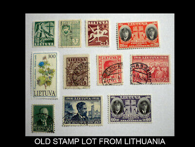 Lithuania Old Stamp Lot With Scott Numbers. Lot - 2