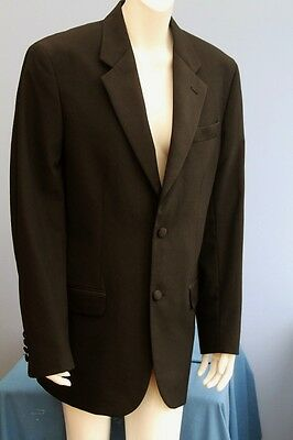 """Hasp Black Wool Blend Dinner Jacket Tuxedo Chest 38"""" inches"""
