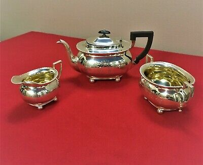 Silver Plated 3 Piece Tea Set James Deakin c1900
