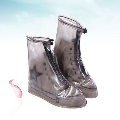 Two Pairs of Rain Boot Shoe Covers Elasticity Foldable Shoe Covers for Women Men