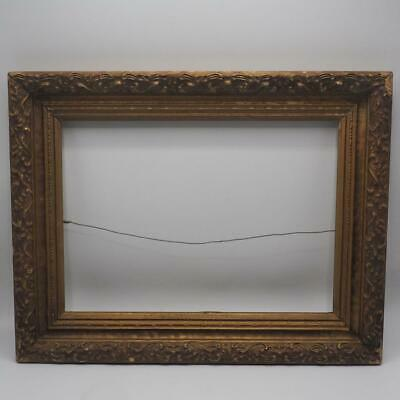 """Vintage 14""""x18"""" Painted Gold Wood Picture Frame"""