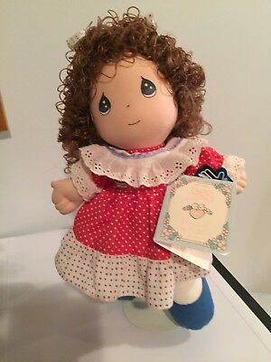 New  Precious Moments Applause Doll of the Month July Basket Plush w/Tag 11""