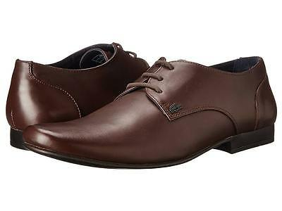f3458e75f LACOSTE 722CLM1071118 HENRI CLM LTH Mn s (M) Brown Leather Oxfords Shoes