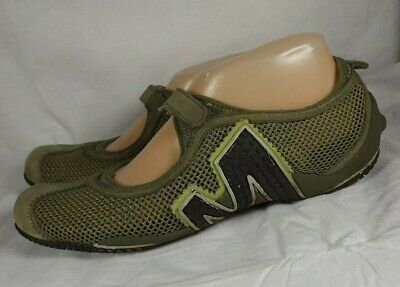 c5bfd835227cd Merrell Relay Tour Green Mesh Mary Janes Vented Sport Shoes Womens Size 8.5