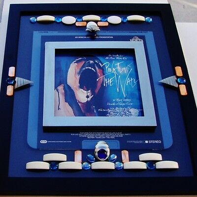 Pink Floyd The Wall Rare Capacitance Electronic Disk Rock Opera Framed Art 1982