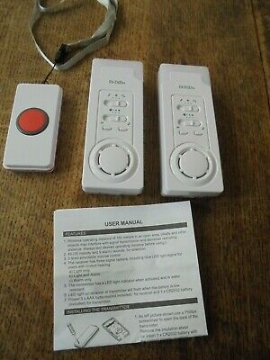 Emergency Call Panic Button Home Elderly Wireless Monitor Including Batteries