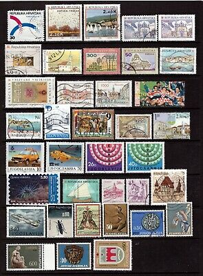 CROATIA, SLOVENIA, BOSNIA, YUGOSLAVIA - Modern lot used,unused, MNH incl. better