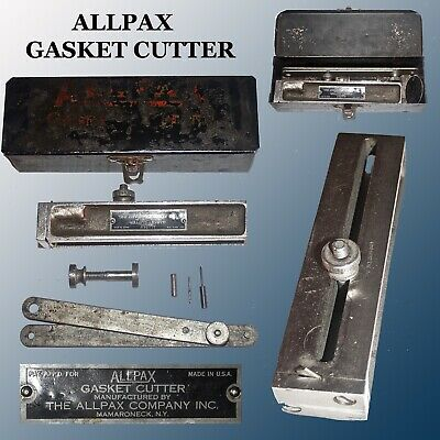 Vintage Collectable Allpax Gasket Cutter Complete In Original Metal Case