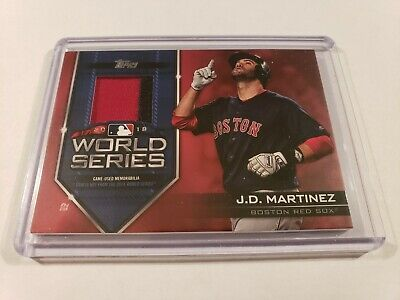2019 Topps Series 1 JD Martinez World Series Champion 2 Color Patch Relic #23/25