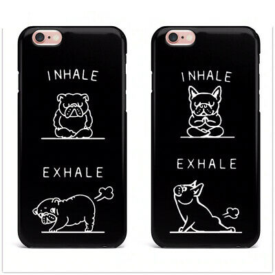 Cute French Bulldog Inhale Exhale Phone Cover For iPhone X 8 8Plus 7 7Plus 6 6s