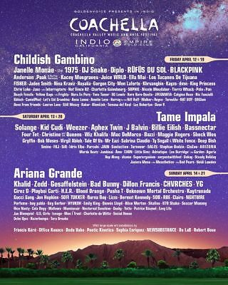 2 Tickets with shuttle pass to Coachella Music Festival 2019 WEEKEND 2