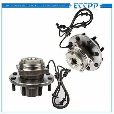 Pair New Front Wheel Hub Bearing Assembly For Ford F-350/F-450 Super Duty 4WD