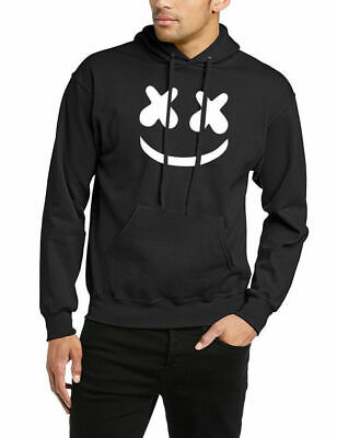 Men Marshmello Hoodie DJ Skrillex Mellow Dance Hooded Pullover Jumper Sweatshirt